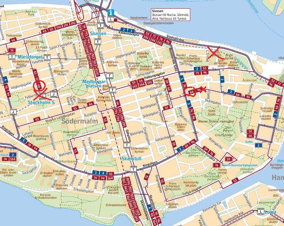"""buss 3 karta Ett besök i staden – om Stig Claesson """"Slas"""", Söderhallarna m fl  buss 3 karta"""