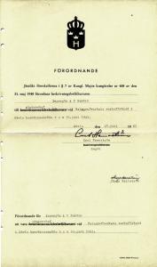 Arne_hemvärnet_förordnande_1942_Arne1